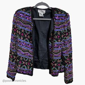 Papell Boutique Evening Beaded & Sequin Jacket
